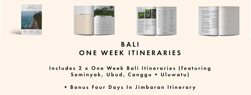 One Week Bali Itineraries
