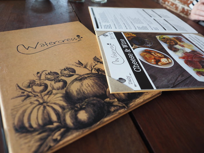 Watercress Menu Design Shot