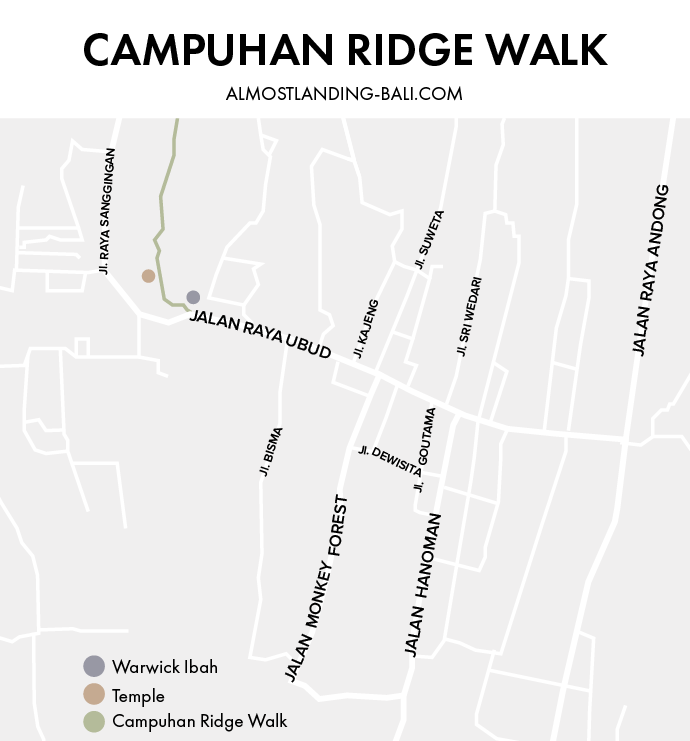 Campuhan Ridge Walk Route Map