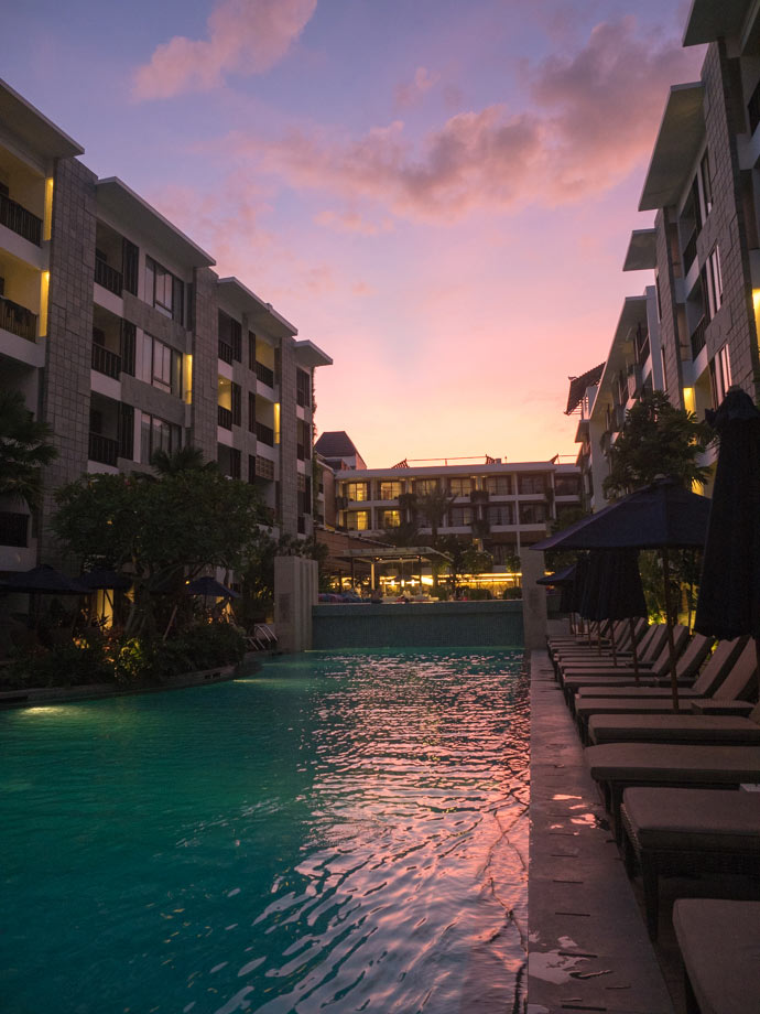 Courtyard By Marriott Seminyak First Impressions Sunset By The Pool