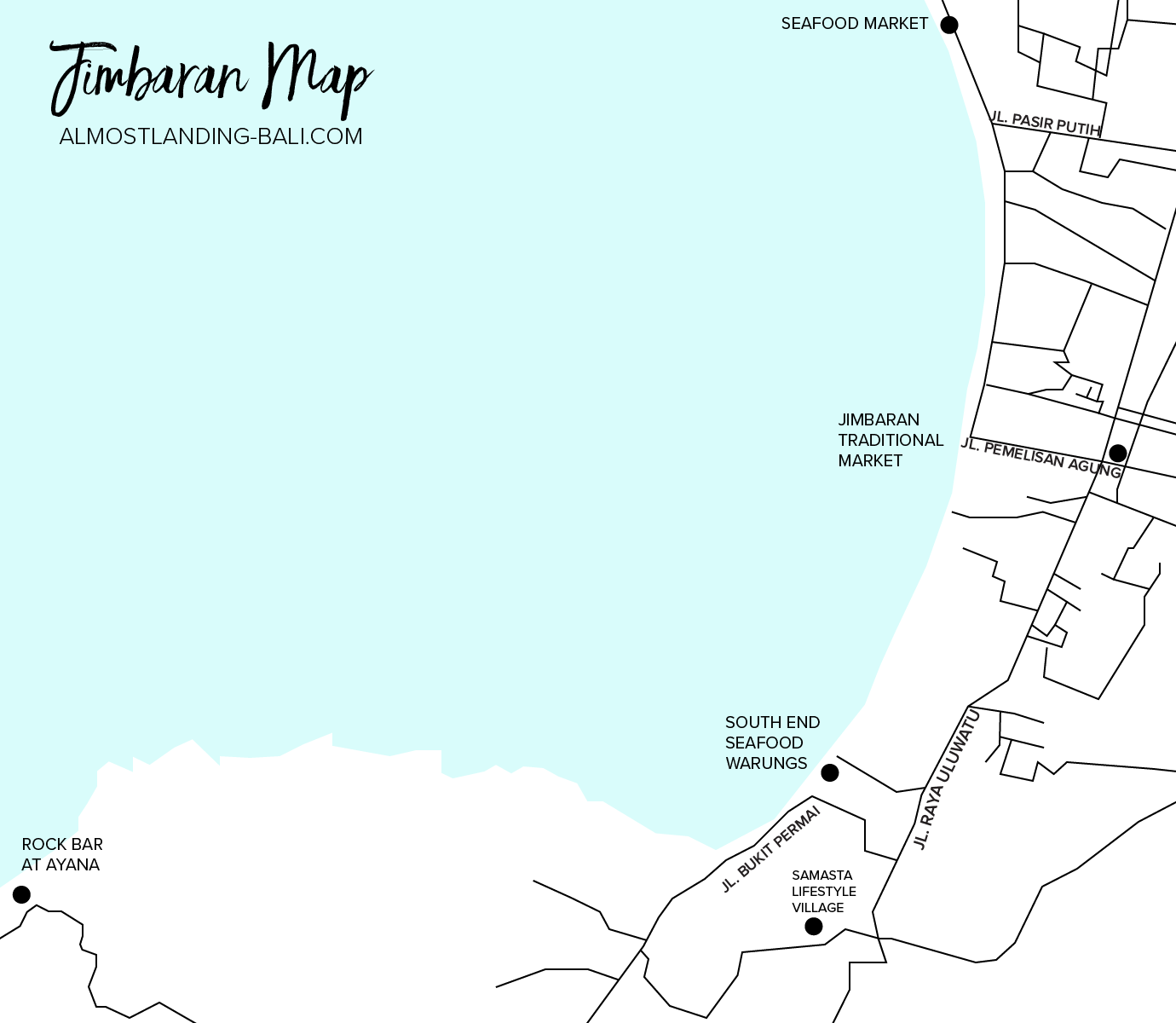 Where To Stay In Jimbaran Map