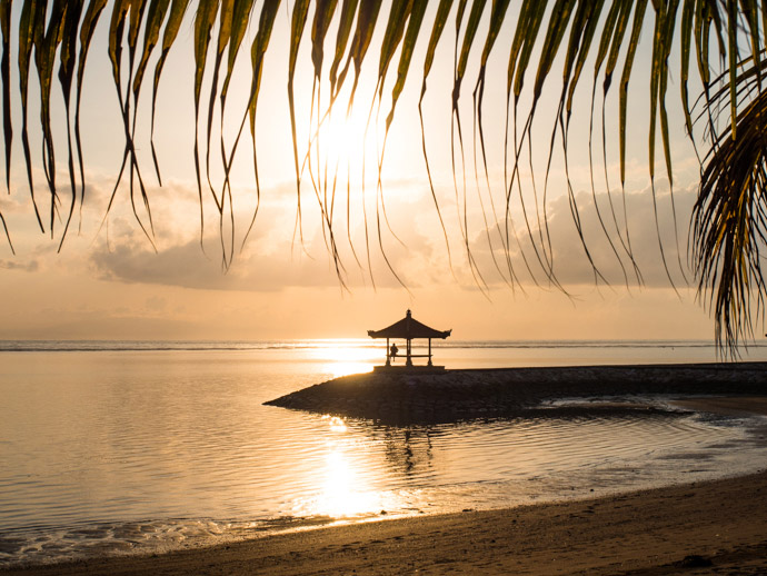 Sanur Beach At Sunrise Bali