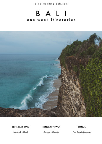 Bali One Week Itineraries