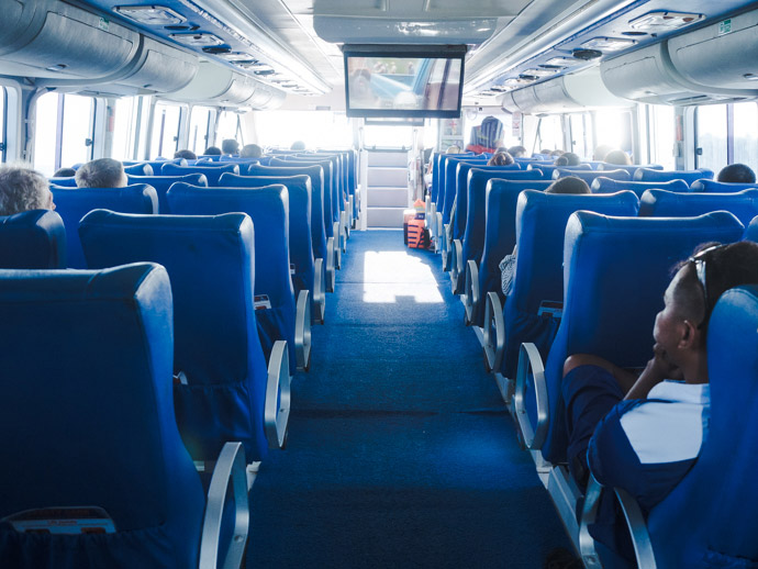 Inside Blue Water Express IX