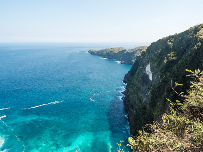 Nusa Penida Landscape Looking From Kelingking